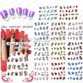 Nueva Llegada 20 Hoja/lot Hermosas Flores Nail Art Tatuajes de Transferencia de Agua Pegatina de uñas accesorios empaquetado individualmente