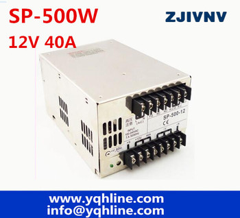 PFC function high efficiency 500w 12v 40A Switching power supply universal AC input 12VDC SMPS SP-500-12 OEM power module