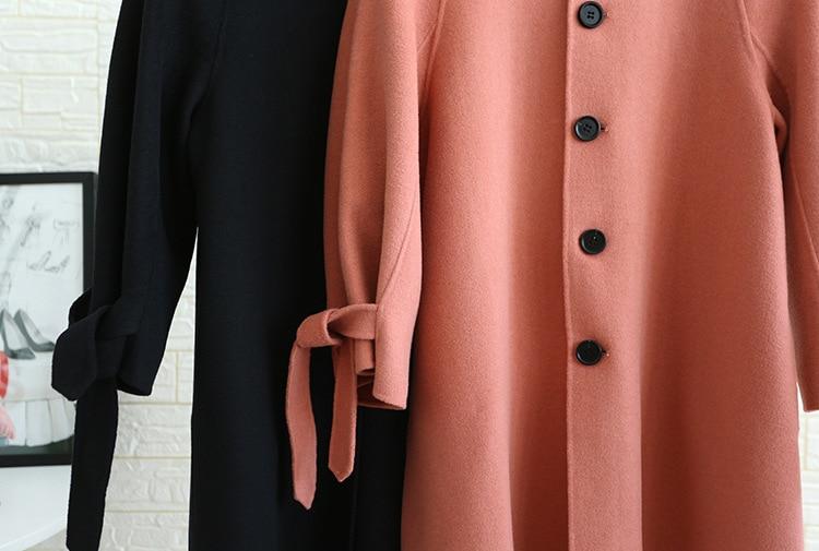 Femmes Laine De Pink 100 Orange Taille 2018 noir Mince Manteau Designer Survêtement Hiver Automne Nouveau Qualité Coréenne Main Haute rrfdxCaqwt