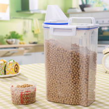Convenient and Practical 2L Kitchen Food Cereal Grain Bean Rice Plastic Storage Container Box 15*7.5*29cm