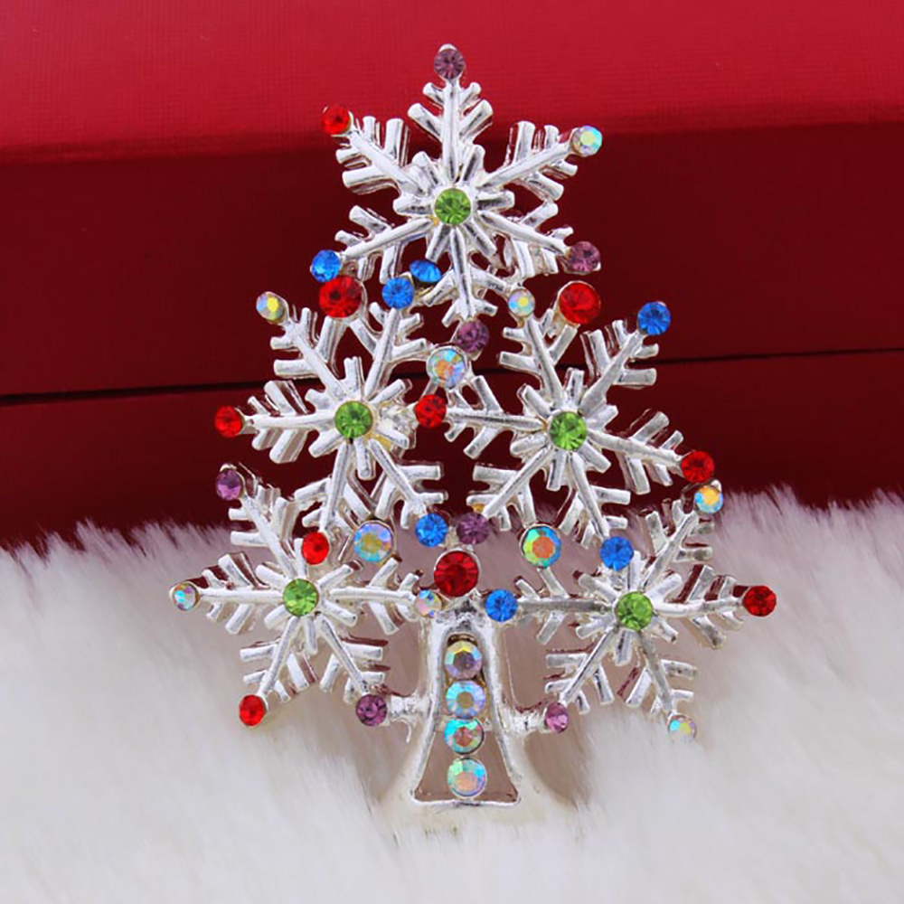 12Pcs Wholesale Christmas Gifts Accessories Fashion Brooch colorful Christmas Tree Christmas decoration Pryme Jewelry XZ010