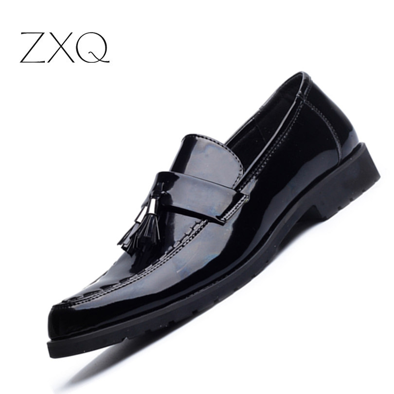 New Fashion Men Loafers Luxury Leather Flats Shoes for Men Driving Shoes Patent Leather Loafers Men Casual Shoes 2017 new men fashion casual microfiber genuine leather shoes men luxury brand flats shoes comfortable breathable driving loafers
