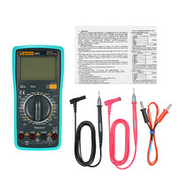 Multimeter DC/AC LCD Digital True RMS Multimeter Voltage Current Meter Tester with Temperature Detector(China)