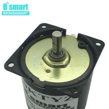 Bringsmart AC 110V 220V постоянный магнит Электродвигатель с высоким крутящим моментом Реверсивный двигатель для мощного приводное устройство для электробарбекю diy запчасти 60KTYZ