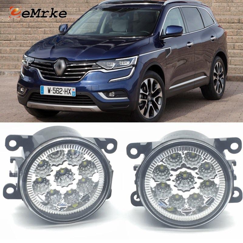 For Renault Koleos 2012 2017 9 Pieces Leds Chips LED Fog Light Lamp H11 H8 12V