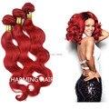 Sexy Rihanna Red Brazilian Hair Body Wave Hair Bundles 3pcs/lot Ombre Brazilian Hair Weave Bundles Red Brazilian Virgin hair