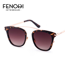 FENCHI sunglasses women metal glasses driving mirror fashion design new gafas de sol mujer Luxury Brand очки