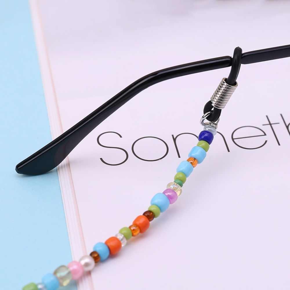 Mulheres da moda Vidro Frisado Cadeia Cadeia De Óculos Óculos de Leitura Óculos Cord