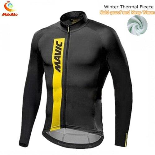 Korea Exclusive Mavic Winter Cycling Jersey Long Sleeve Cycling Jacket  Thermal Fleece Cycling Clothing Keep Warm Bike Jersey 7c43223ca