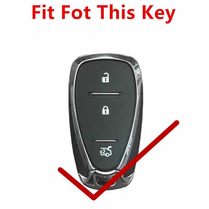 FLYBETTER-housse de voiture en cuir véritable 3 boutons, sans clé, pour Chevrolet Cruze/Malibu XL/Equinox, stylé, 'etui de clé intelligente