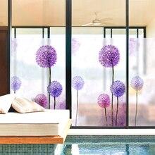 60x88cm pvc Dandelion flower pattern window stickers opaque bathroom balcony anti – static shading windows glass film