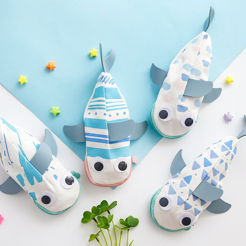Fromthenon Cute Whale Shaped Pencil Cases Creative Kawaii Pencil Bag For School Stationery For Kids Gift Korean Stationery Store