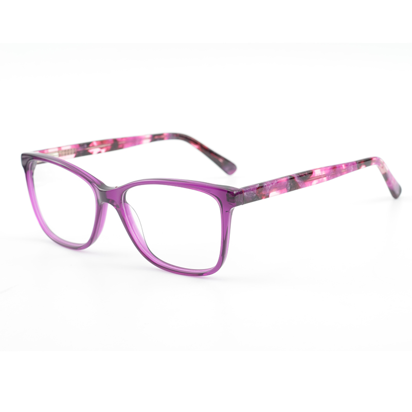 Women Nice Design Purple Ladies Acetate Fasion Eyeglasses Frame ...
