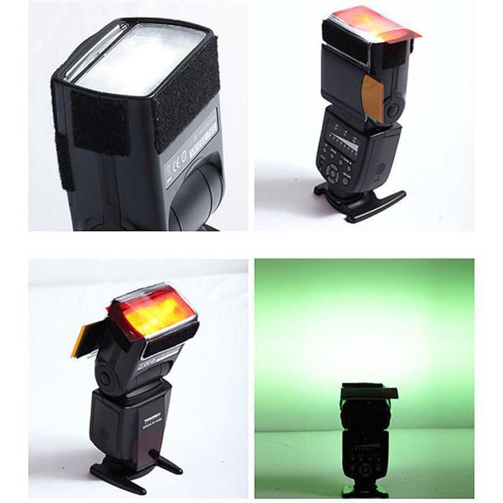 12 ensembles de couleurs Studio Flash caméra boîte souple diffuseur pour yongnuo couleur Gel filtre Flash diffuseur