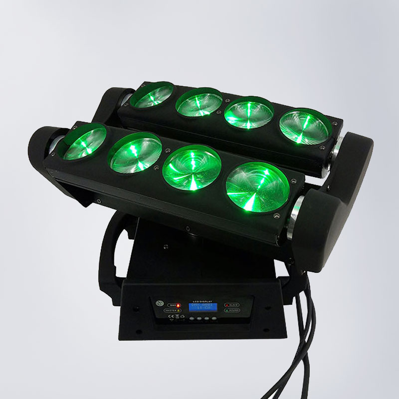 RGBW 4in1 Led Spider Beam Light Led 8x10w Bar Beam Moving Head Beam Led Spider Light DJ Equipment LED Strobo Disco Lights DMX 6pcs lot dj lights cree 9pcs 15w sharpy beam light 4in1 rgbw moving head beam led light extend robot rotating dmx stage light