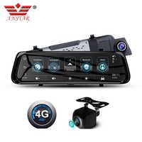 """ANSTAR voiture Dvr 4G Android miroir tableau de bord caméra 10 """"rétroviseur caméra GPS ADAS miroir enregistreur 1080P Streaming médias Dash Cam"""