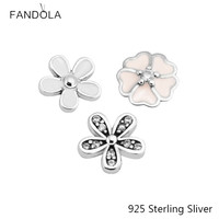 Authentic 925 Sterling Silver Small Charms Beads Fit Floating Locket Silver Pendant And Necklace DIY Accessories