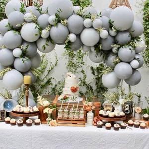 Image 3 - 20 adet 30 adet 50 adet 5 inç 10 inç Pastel gri balonlar mat gri Macaron balon düğün süslemeleri doğum günü parti malzemeleri