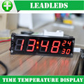 1.2 inches large digital led display clock precision clock module led luminous electronic clock with temperature alarm clock