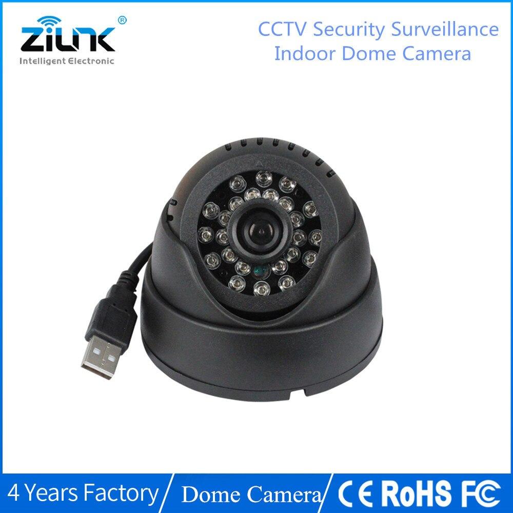 ZILNK CCTV Dome Camera 420TVL Night Vision IR 24 LED TF Micro Cartão SD De Gravação de Câmera de Segurança Em Casa