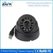 ZILNK купольная камера видеонаблюдения 420TVL ночного видения 24 IR светодиодный LED Micro TF SD карта Запись домашняя камера безопасности