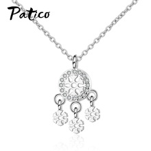 New Statement 925 Sterling Silver Women Concise Cubic Zircon Circle Pendant Necklaces Jewelry Friendship Gift Charms Chokers new 925 sterling silver zircon square circle necklaces pendant fashion sterling silver jewelry statement for women bijoux