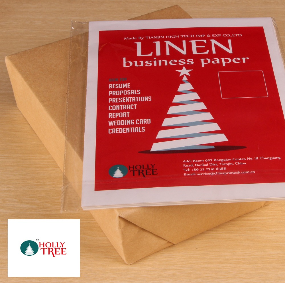 100 sheets 100% cotton business paper, 210*297mm, white, 85gsm