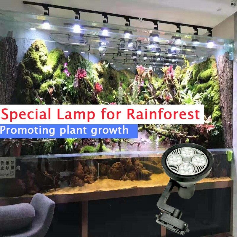 LED pour aquarium éclairage 220-240 V lampe spéciale pour forêt tropicale avec ventilateur de refroidissement plante lumière lampe supplémentaire paysage croissant Lig