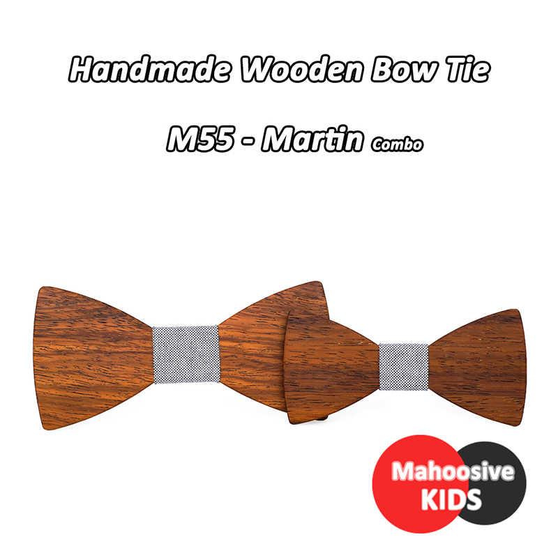 花婿の付添人新郎木材スーツボウタイ子男結婚式英国女性子供キッズ木製弓ネクタイネクタイコンボ