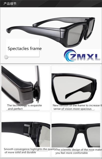 920bab8e92 Estudios de cine gafas 3D REALD pasivo polarizada circularmente Chino Sala  gigante gafas 3D
