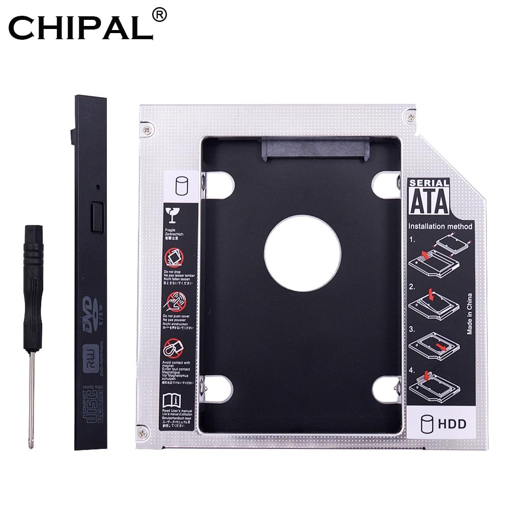 CHIPAL Caddy Enclosure Drive-Case Hard-Disk Laptop SSD DVD-ROM SATA Aluminum IDE