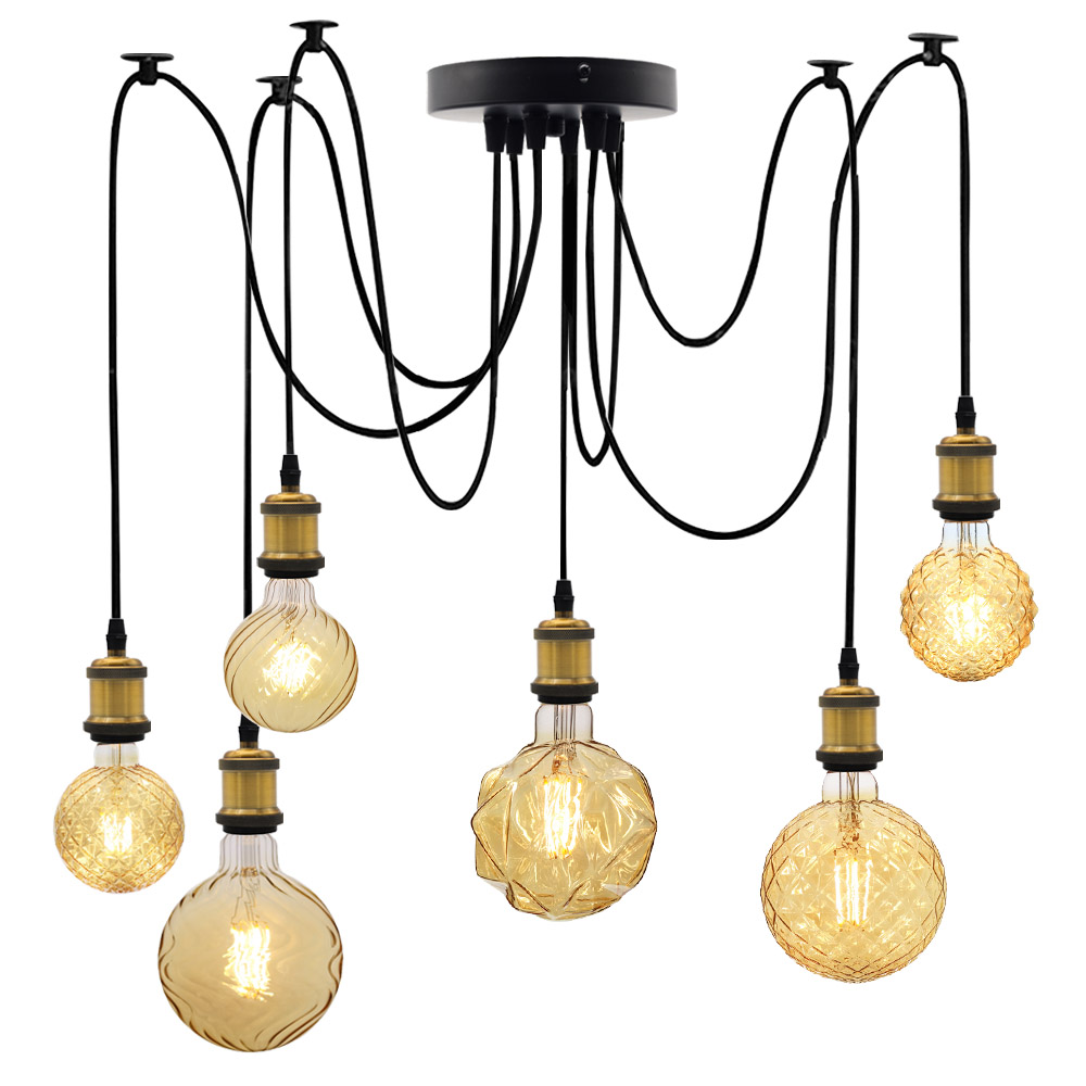 small resolution of tianfan 6 lights industrial chandelier loft light spider hardwired rustic vintage industrial loft chandelier ceiling light