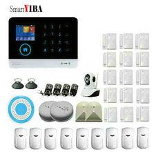 SmartYIBA APP Control WIFI WCDMA 3G SMS Alarm System LCD Display Wireless Siren Kits Home Burglar