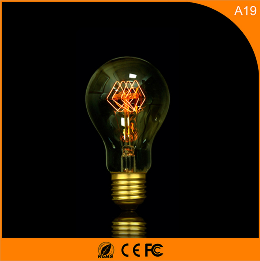 50Pcs 40W Vintage Design Edison Filament E27 LED Bulb,A19 Energy Saving Decoration Lamp Replace  Incandescent Light AC220V led light bulb color e27 screw port 3w red small bulb outdoor decoration atmosphere colorful lighting energy saving lamp 50 pcs