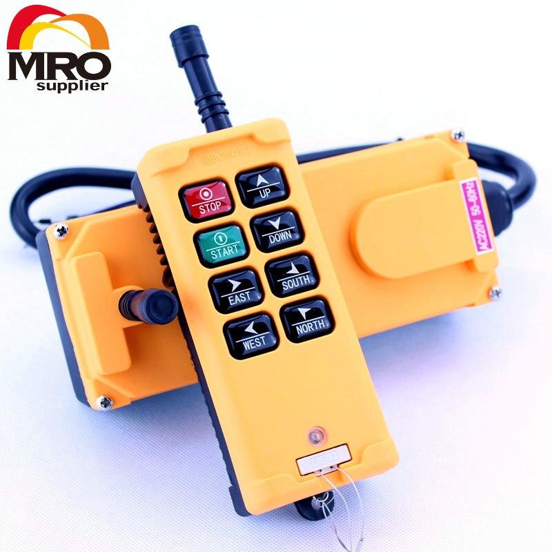 OBOHOS 1 Émetteurs 8 Canaux Un Vitesse Camion Treuil De Levage De Grue Radio Remote Control System Controller XH00018