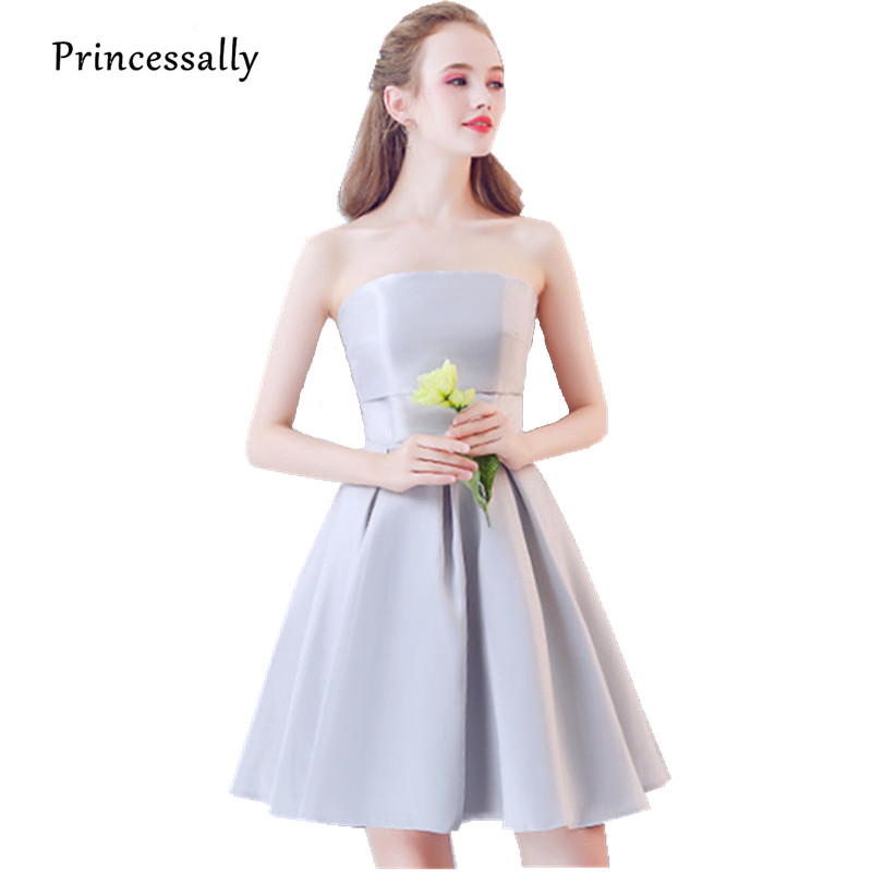 Robe De Soriee Cheap Grey Bridesmaid Dresses Under 50