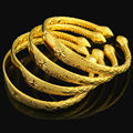 Newest Women Dubai Bangle 24K Gold Plated Bracelet Bangle African/ Arabic/Ethiopian Bride Wedding Jewelry