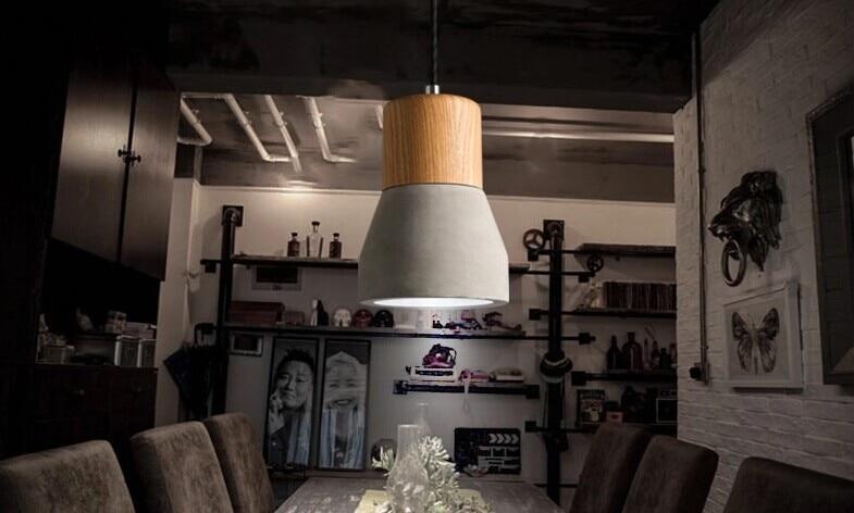 ᐊEstilo japonés moderno madera LED lámpara colgante lámparas para ...