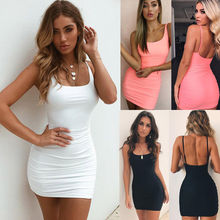 Fashion Women Sexy Backless Pencil Dress Sleeveless Slim Vestidos Vest Tanks Bodycon Dress Strap Solid Party Dresses sexy hollow out women dresses slim backless knitted dresses vestidos solid vest tanks bodycon dress robe femme female dress
