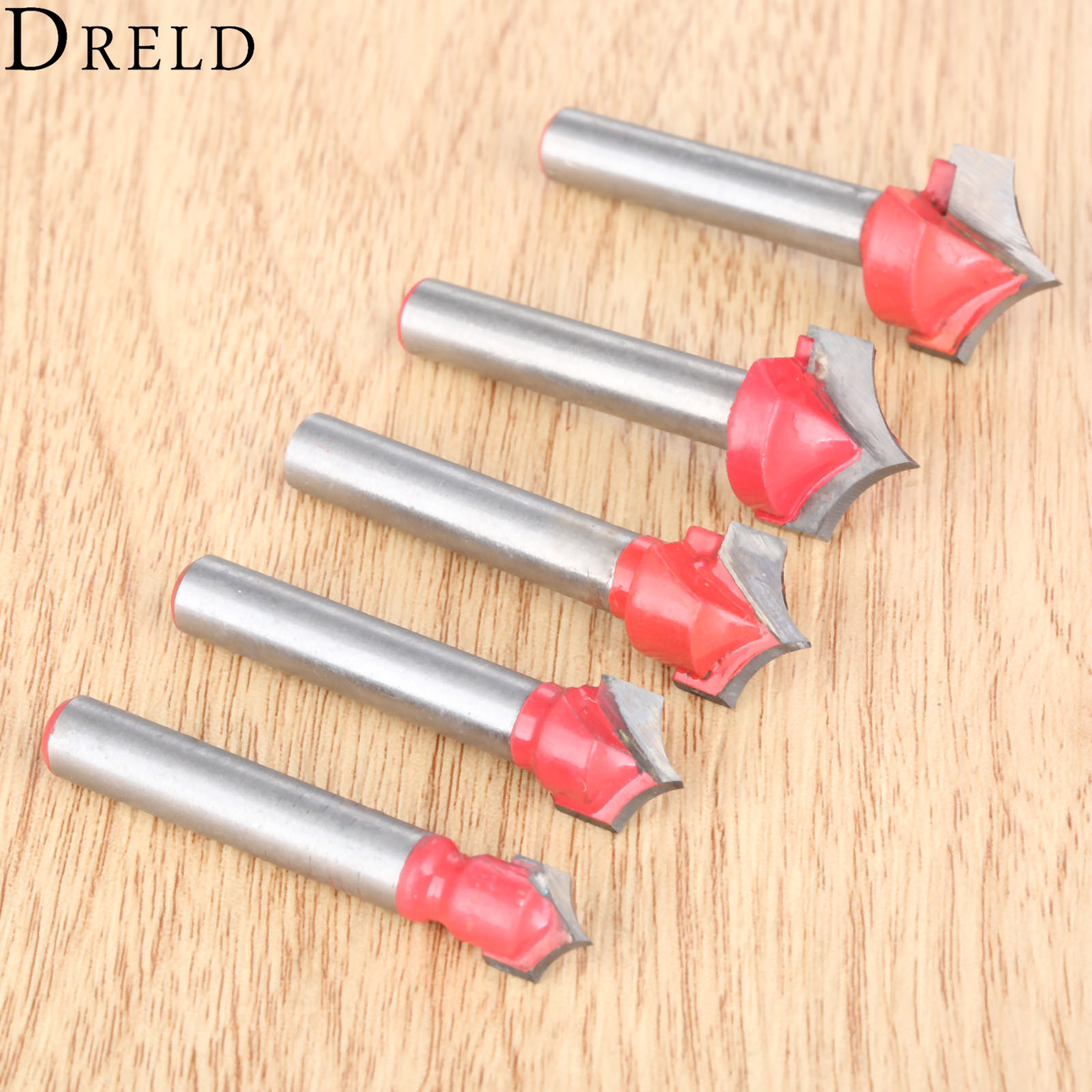 DRELD 1pc 6mm Shank V Groove Router Bits CNC Engraving End Mill Wood Carving Milling Cutter Wookwooking Carpentry Tools Fresa