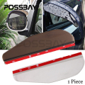 1PC Brown/Clear Car Rear View Mirror Weatherstrip Flexible Rear View Mirror Covers Anti Rain Guard Shade Auto Rain Eyebrow
