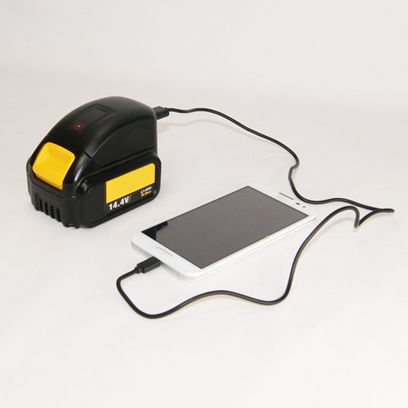New USB Charger Use Dewalt DCB120 DCB121 DCB140 DCB18 DCB203 DCB200 Power Tools Batteries Power Bank to charge the Phone Ipad
