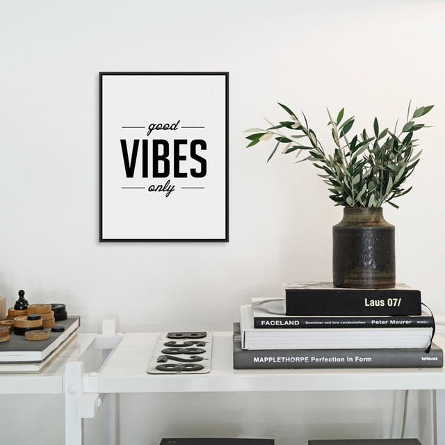 Modern Minimalist Black White Alphabet Typography Quotes A4 Art Print Poster Hipster Wall Picture Canvas Painting