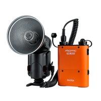 Godox Witstro AD 180 protable Flash Outdoor Speedlite PB960 Battery Power Pack Kit Orange For DSLR