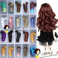 Free Shipping wholesales color choose Extension Hair 15*100cm Natural Color Curly Wigs for BJD Doll