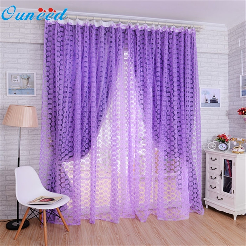 New Striking Rose Tulle Window Screens Door Balcony <font><b>Curtain</b></font> Panel Sheer Scarfs 36