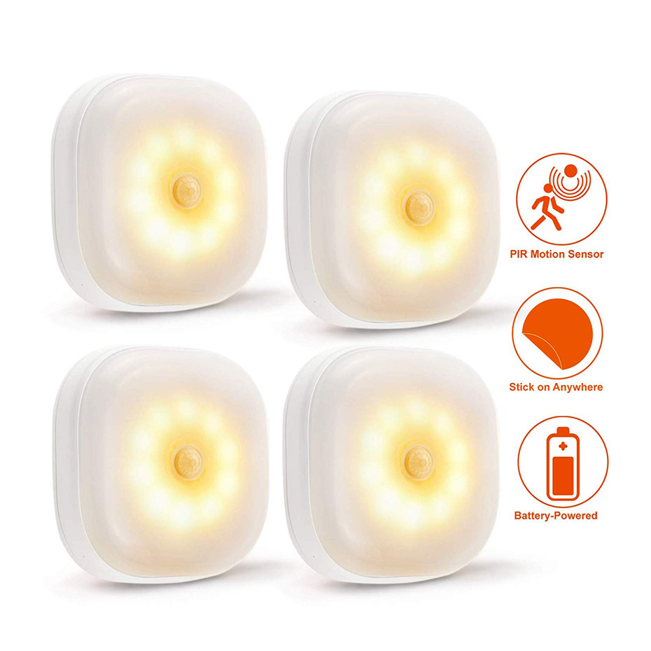 Mini Square Sensor Night Lamp Smart Home Body Motion Sensor Nightlight Energy Saving Sleeping Wall Lamp For Baby Room Bedroom