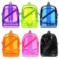 Mode Hologramm Laser Transparent Rucksack Wasserdichte PVC Klar Kunststoff Täglichen Rucksack Mini Teenager Mädchen notebook Schule Tasche