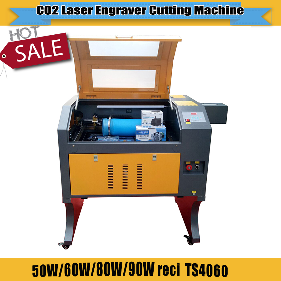 CO2 Laser Engraving And Cutting Machine TS4060 With  Motorized Up And Down Honeycomb Work Table Laser Engraver