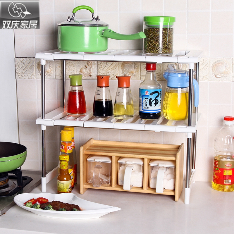 Multipurpose Shelf with double layers high quality microwave or oven  shelves kitchen storage and extension  bathroom organizer